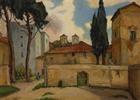 a street scene, florence, italy by rowena meeks abdy