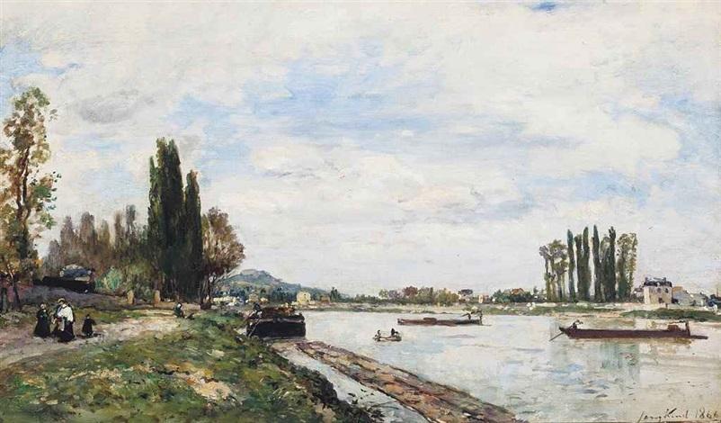 vue de meudon du pont de sèvres by johan barthold jongkind