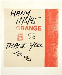 Lottery Tickets – Orange B98, 1995