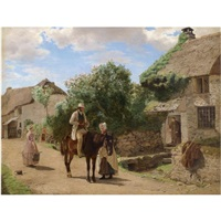 the village postman by sir ernest albert waterlow
