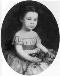 fillette aux fleurs by edmond louis marie wagrez