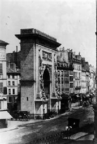 porte saint-denis by louis désiré blanquart-evrard