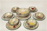 un servizio (set of 14) by tullio albisola