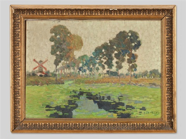 impressionist landscape by albert saverys
