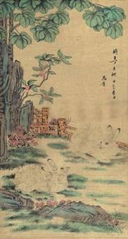 双兔图 by ma jin