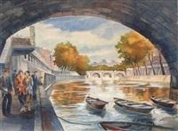 les quais de seine à paris by aleksei ilych kravchenko