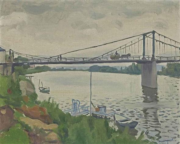 le pont de triel by albert marquet