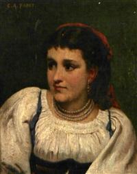 portrait de jeune fille by camille alfred pabst