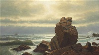 pulpit rock, nahant by william stanley haseltine
