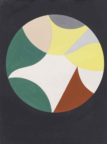 cercles et triangles by sophie taeuber arp