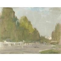 vari paesaggi (3 works) by angelo alebardi