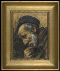 portrait of an old jew by leopold pilichowski