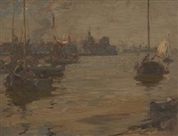 dutch river scene by james campbell noble