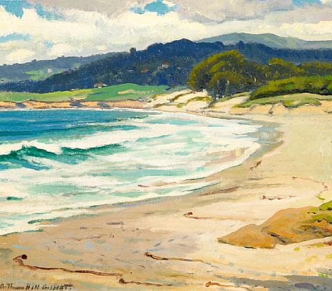 carmel beach by arthur hill gilbert