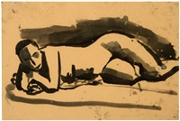 reclining female nude (no. 353) by david park