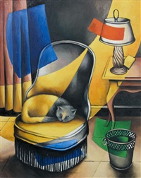 fauteuil au chat by georges bauquier