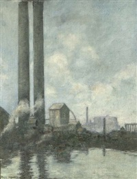 grand canal dock, ringsend, dublin by paul henry
