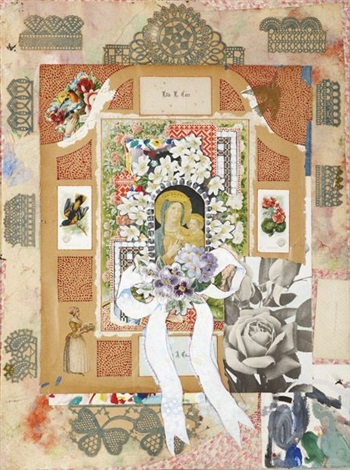 madonna with flowers iv by joe brainard