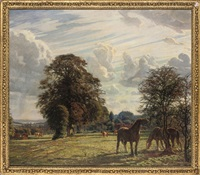 horses grazing by niels vinding dorph
