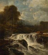 débardage près de la cascade by jacob jacobs