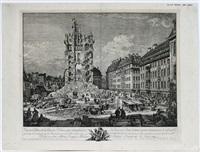 die trümmer der ehemaligen kreuzkirche zu dresden by bernardo bellotto