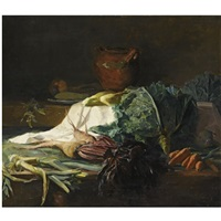 a kitchen still life by guillaume romain fouace