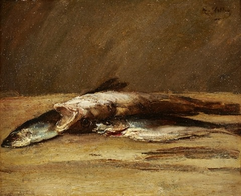 still life with fish by antoine vollon