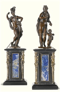 venus and mars (2 works) by tiziano aspetti