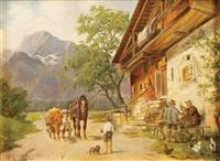 alpine tavern by ludwig cornelius-muller