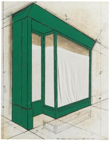 green store front project by christo and jeanne claude
