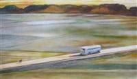 paysage au car et au chien by guy peellaert