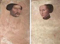 portrait of ludwig von der pfalz, count palatine of zweibrücken (+ portrait of elisabeth von hessen; pair) by peter gertner