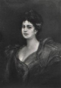 portrait einer dame by friedrich ernst wolfrom