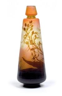 vase mit wiesenblumen by cristallerie d'emile gallé