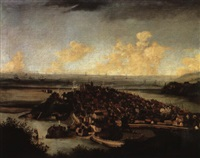 extensive view of rye on the sussex coast by hendrick danckerts