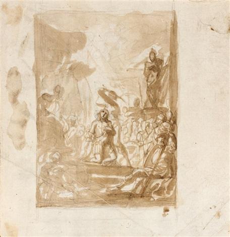 le martyr de saint géron study une scène de martyre 2 works by cornelis schut the elder
