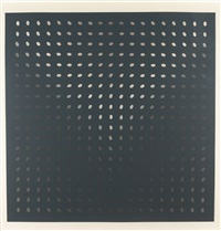 untitled (nineteen greys d) (s. 8d) by bridget riley