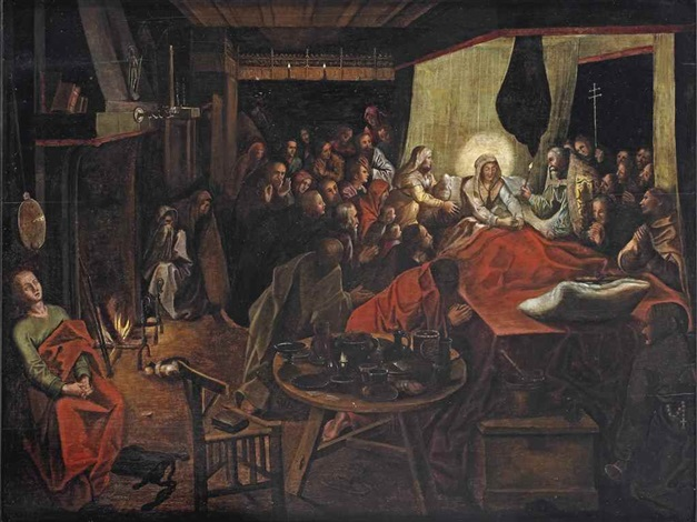 the death of mary by pieter brueghel the younger on artnet