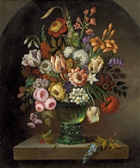 blumenstillleben in glasvase by ambrosius bosschaert the elder