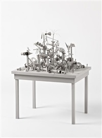 greypapersculpturetable by tom friedman