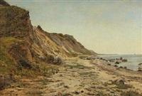 coastal scape by janus andreas barthotin la cour