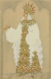 costume design for ruslan and ludmila : ludmila by boris bilinsky