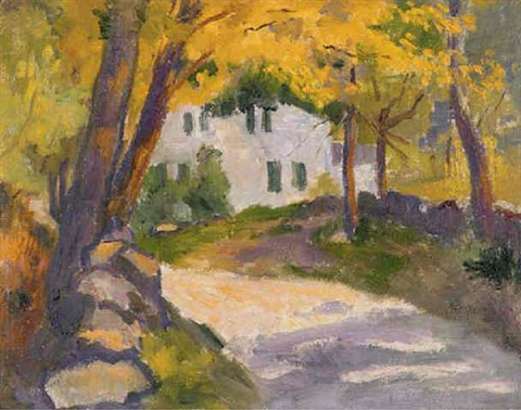 silvermine river road our old house by bernhard gutmann