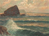 surf at a rockbound coast by franz waldegg