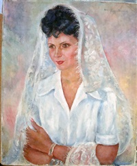 portrait de femme en mantille by nina alexandrowicz