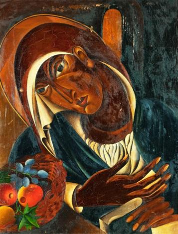 a nun at prayer by lydia dmitrievsky
