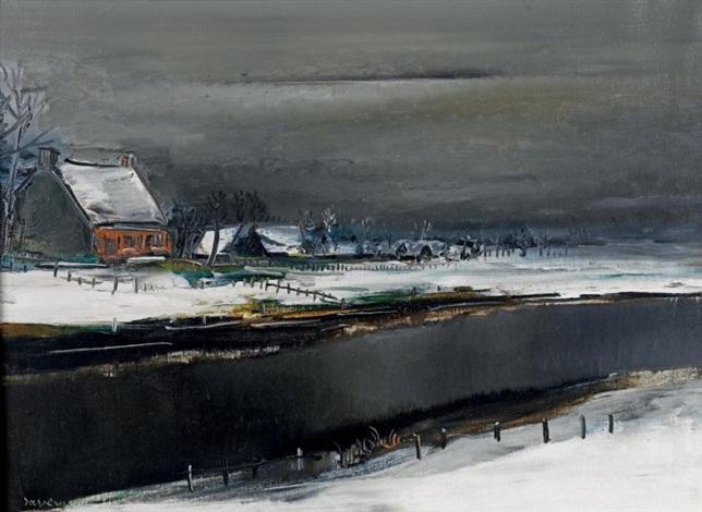 hiver sur la lysse by albert saverys