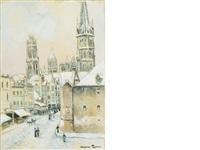 cathédrale à rouen by georges manzana-pissarro