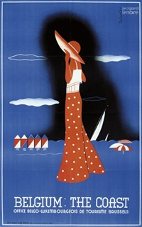 belgium: the coast (poster) by edgard lemaire