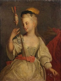 une jeune fileuse by jacques-françois courtin